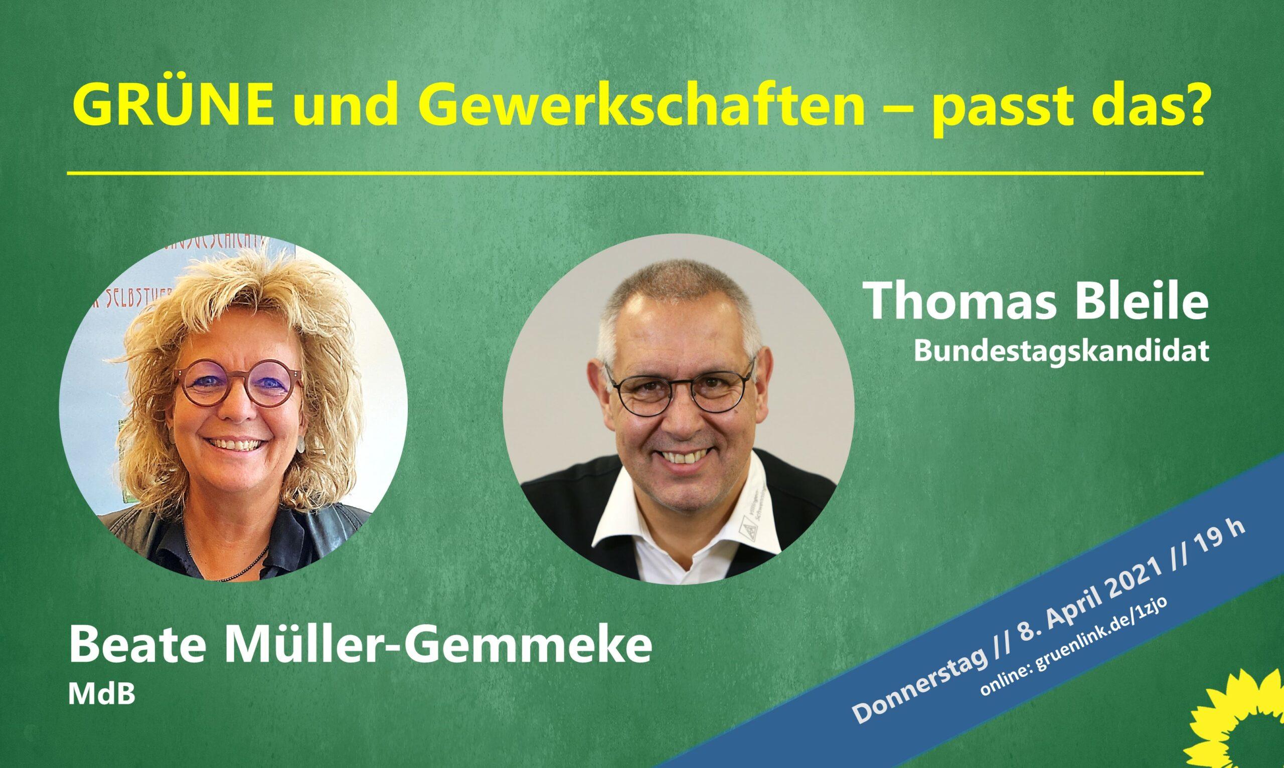 """Online-Talk: """"Grüne und Gewerkschaften – passt das?"""""""