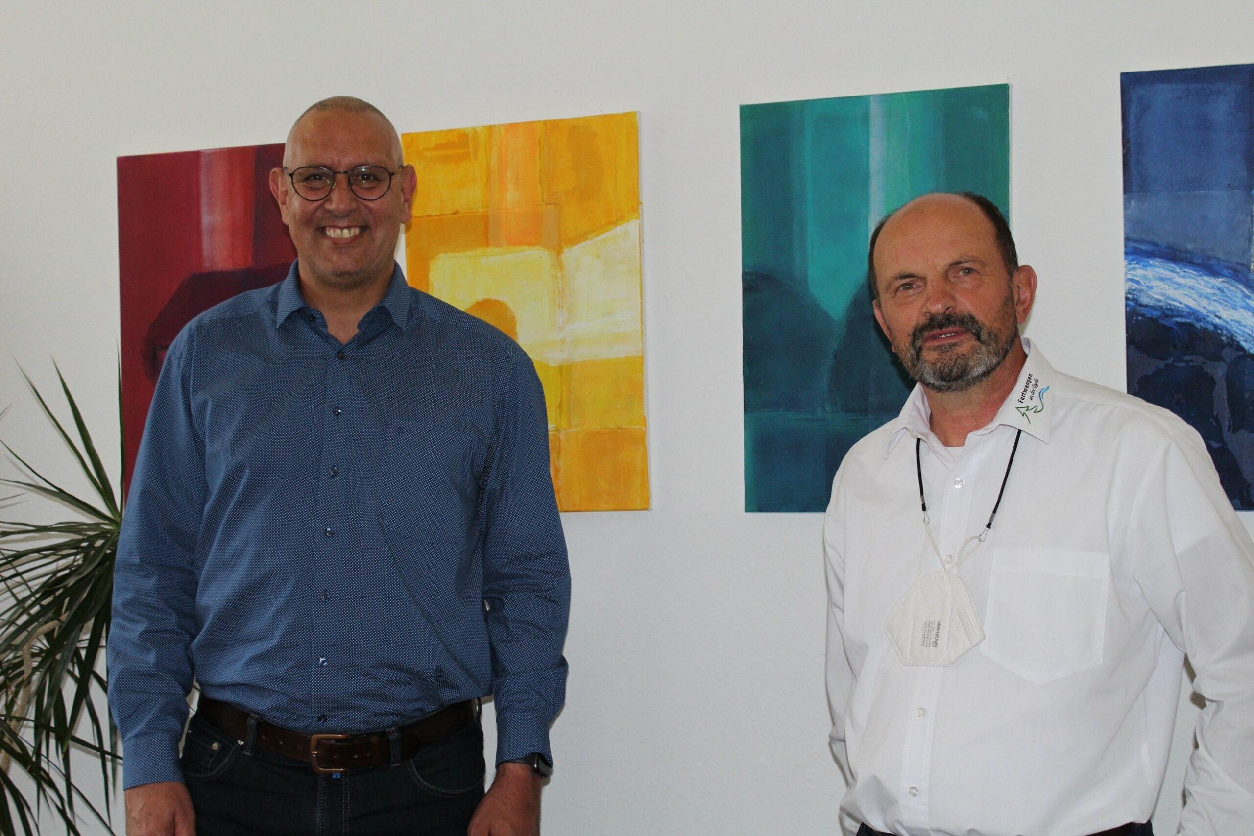 Bundestagskandidat Thomas Bleile zu Besuch bei Bürgermeister Josef Herdner in Furtwangen
