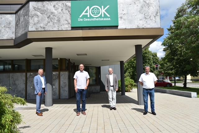 Bundestagskandidat Thomas Bleile zu Besuch bei der AOK Schwarzwald-Baar-Heuberg